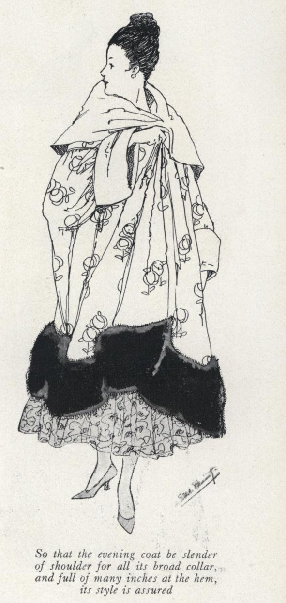 A home-made evening wrap imitating Poiret (Vogue, November 1911)