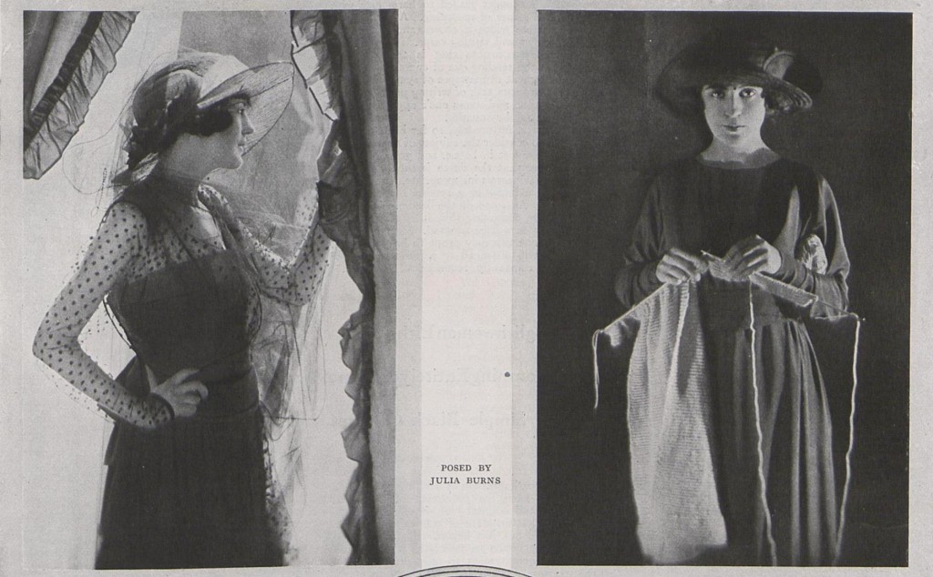 Two mourning ensembles: black silk and net for afternoon wear, and silk crepe for a young girl